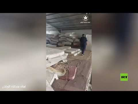 شاهد ضبط مستودع للمراتب المغشوشة وهروب عماله في السعودية
