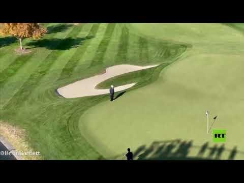 شاهد مشاهد جديدة لـترامب يلعب الغولف