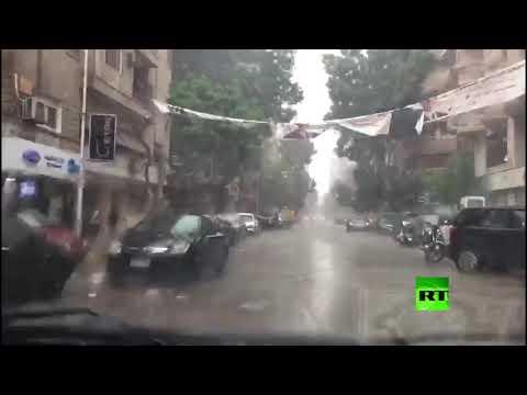 شاهد أمطار غزيرة وموجة من الطقس السيئ تضرب المحافظات المصرية