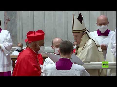 شاهد بابا الفاتيكان يُعين 13 كاردينالًا جديدًا من جميع قارات العالم