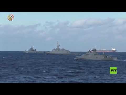 شاهد اختتام مناورات جسر الصداقة البحرية بين مصر وروسيا