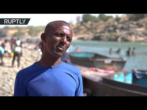 شاهد لقطات حية من كسلا السودانية للإثيوبيين الفارين