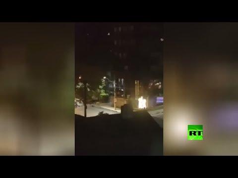شاهد سطو على بنك في كريسيوما البرازيلية باستخدام رهائن ومتفجرات