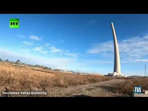شاهد تفجير برج في ألاباما الأميركية