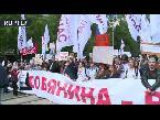 فلسطين اليوم - مظاهرة ضد هدم المباني القديمة في موسكو
