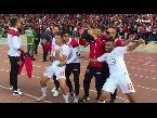 شاهد لاعبو الحسنية يحتفلون بشكل مثير لتأهلهم لنهائي كأس العرش